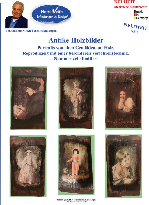 Antike Holzbilder - Vermarktung von Erfindungen und Ideen - BMV